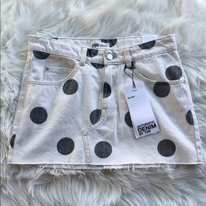 NWT Zara Polka Dot Mini Skirt